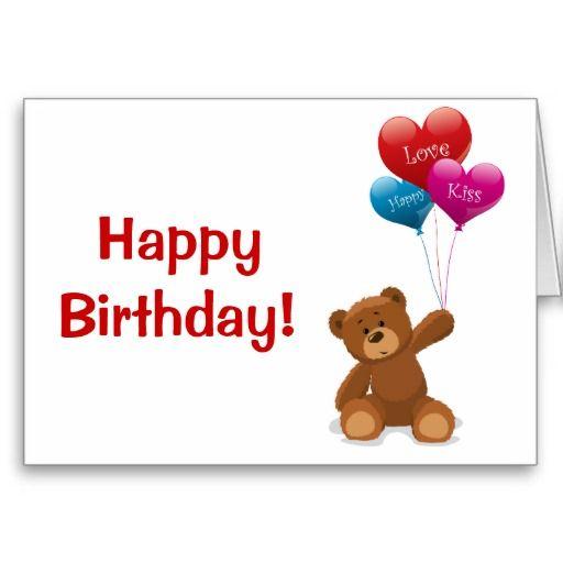 Happy Birthday Teddy Bear Greeting Card – Birthday Card Bear
