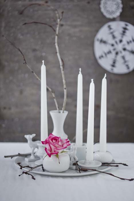 modern take on the advent wreath