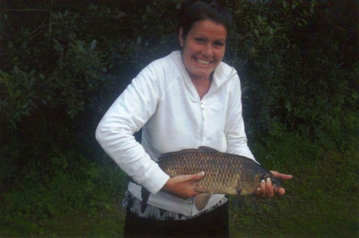 Lady fishing at Meadow Lakes