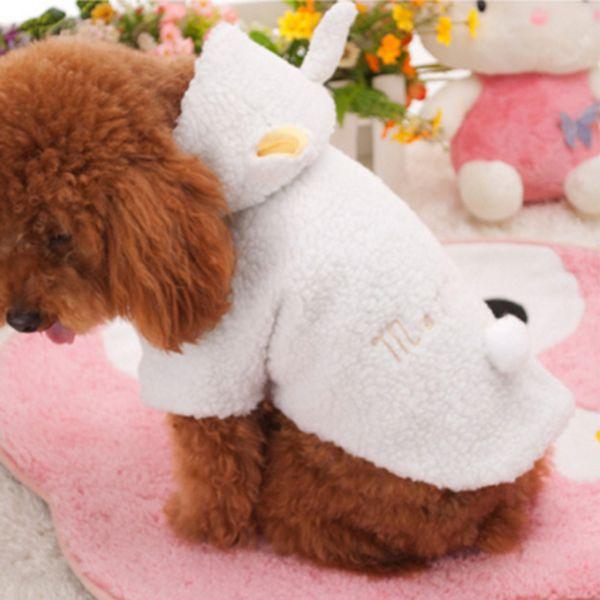 Chegam novas quente de roupa bonito do filhote de cachorro com capuz casaco de vestuário traje com capuz alishoppbrasil