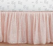 The Emily & Meritt Sparkle Tulle Crib Skirt, Blush