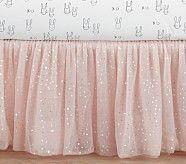 The Emily & Meritt Sparkle Tulle Crib Skirt, Blush