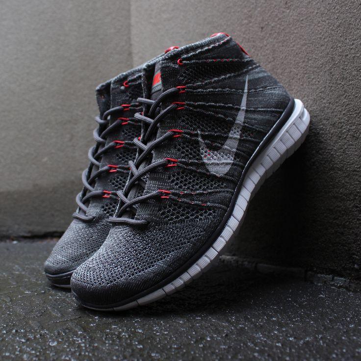 Nike Free Flyknit Chukka: Dark Grey