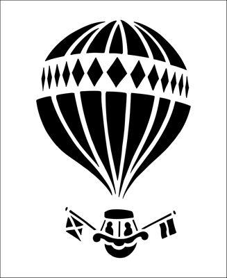Montgolfier Solo stencil from The Stencil Library BUDGET STENCILS range. Buy stencils online. Stencil code CS110.