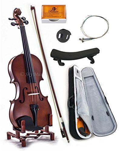 This is a very beautiful Sky(Paititi) 4/4 Size student violin package that comes complete with 1 Brazilwood bow 1 lightweight triangular violin case and 1 high quality shoulder rest.This violin is pr...