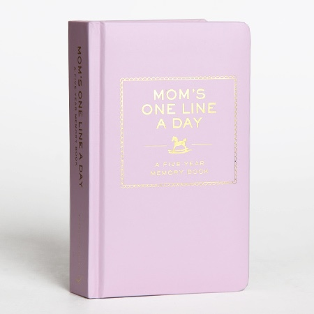 mom's one-line-a-day memory book, $16.95.
