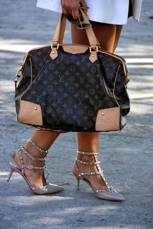 Hit the streets in Louis Vuitton and Valentino