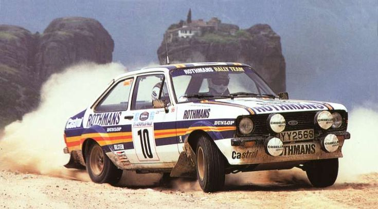 Ari Vatanen with his team mate Mikkola, Ford Escort RS MkII, won his first World Rally in Greece in 1980.