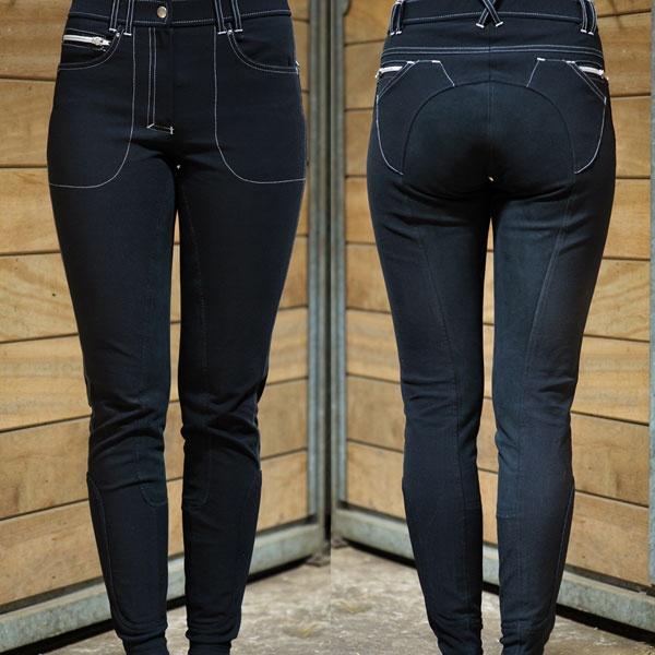 Agnes L, comfortabele rijbroek verkrijgbaar in black, navy, bruin en wit.