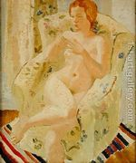 Seated Nude Girl in an Interior, 1928  by Christopher Wood