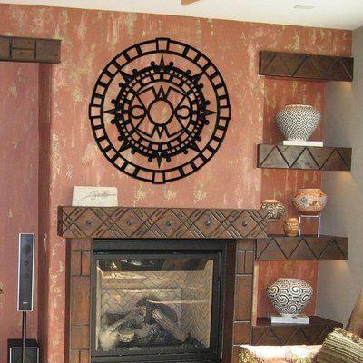 "Ceiling Art Store Aztec Ceiling Medallion Size: 0.75"" H x 60"" W x 60"" D, Finish: Black Iron"