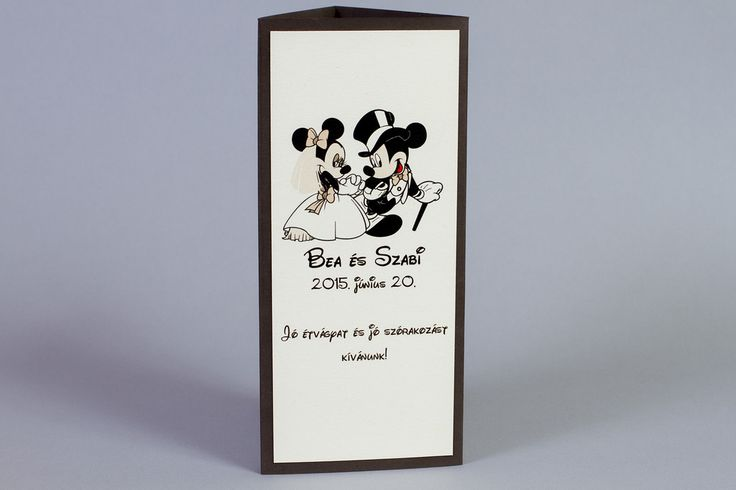 Mickey egeres menühenger, Mickey and Minnie wedding decoration