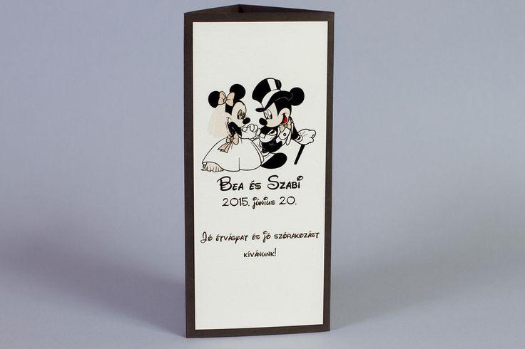 Mickey egeres menühenger, Mickey and Minnie wedding decoration