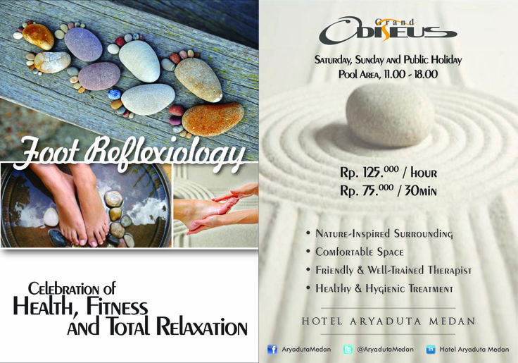 Enjoy Complimentary 15 minutes of foot reflexology by the pool.