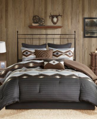 Bitter Creek Reversible 8-Pc. California King Comforter Set