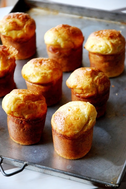 Muffins de pera y roquefort