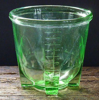 Vintage Green Uranium Glass Measuring Cup - Depression ...