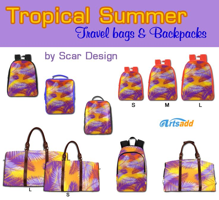 http://www.artsadd.com/store/scardesign?sort=newest&category=bags-4755 Tropical Summer Backpacks & Travel bags by Scar Design. #summer #bags #travelbag #summertravelbag #backpack #summerbackpack #tropical #design #artsadd #scardesign #travelgifts #travelsetbags #beachbag