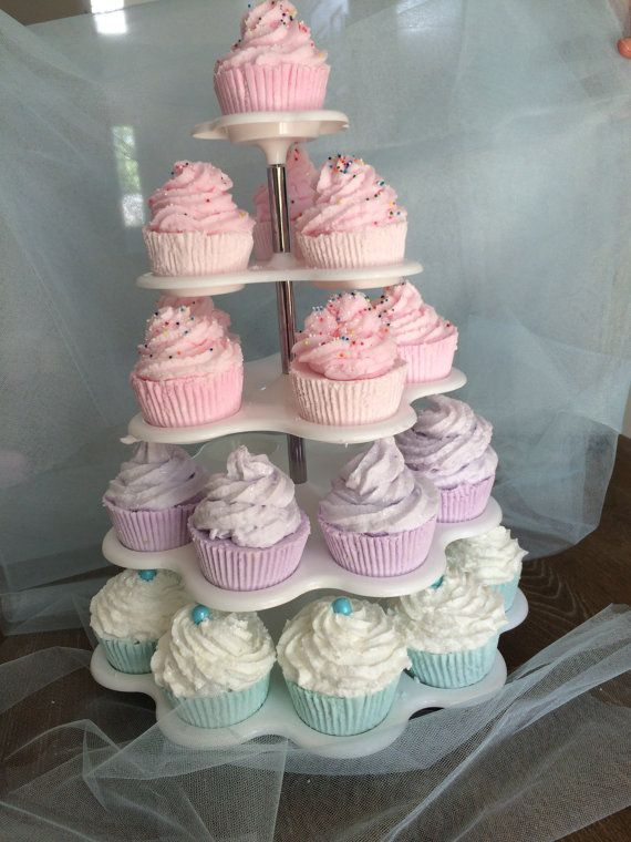 Bath Bomb Cupcakes/ Bath Fizzies/Bath by StefaniaValenti on Etsy