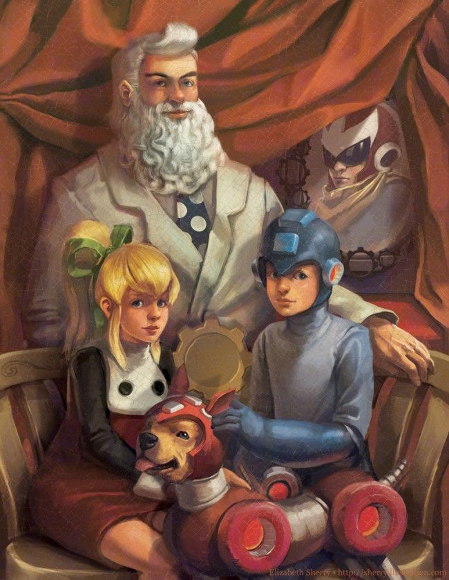 tHE MEGAMAN FAMILY POTRait more real