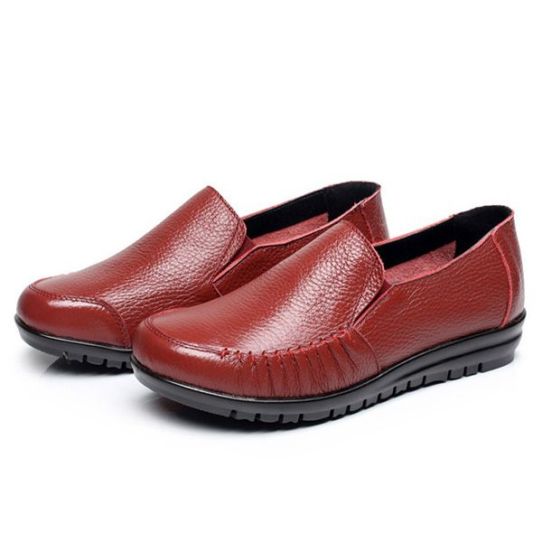US Size 5-12 Leather Women Soft Shoes Outdoor Slip On Flat Loafers  Worldwide delivery. Original best quality product for 70% of it's real price. Hurry up, buying it is extra profitable, because we have good production sources. 1 day products dispatch from warehouse. Fast & reliable...