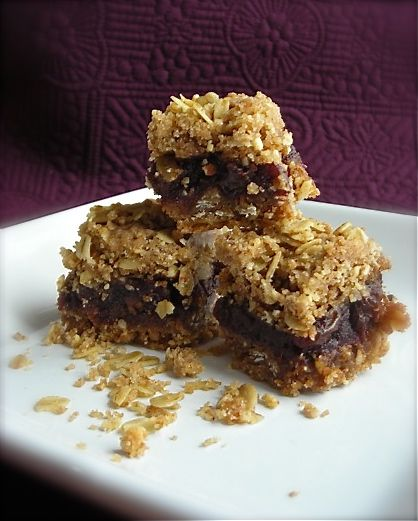 Oat and Nut Date Squares