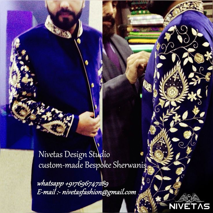 whatsapp  +917696747289email- nivetasfashion@gmail.comAll Bespoke Sherwanis are totally designed, tailored, & made as per individual needs offering you complete freedom of designing your own Sherwani.  groom sherwani - wedding groom outfit - men wedding sherwani - custom made bespoke mens sherwani outfit