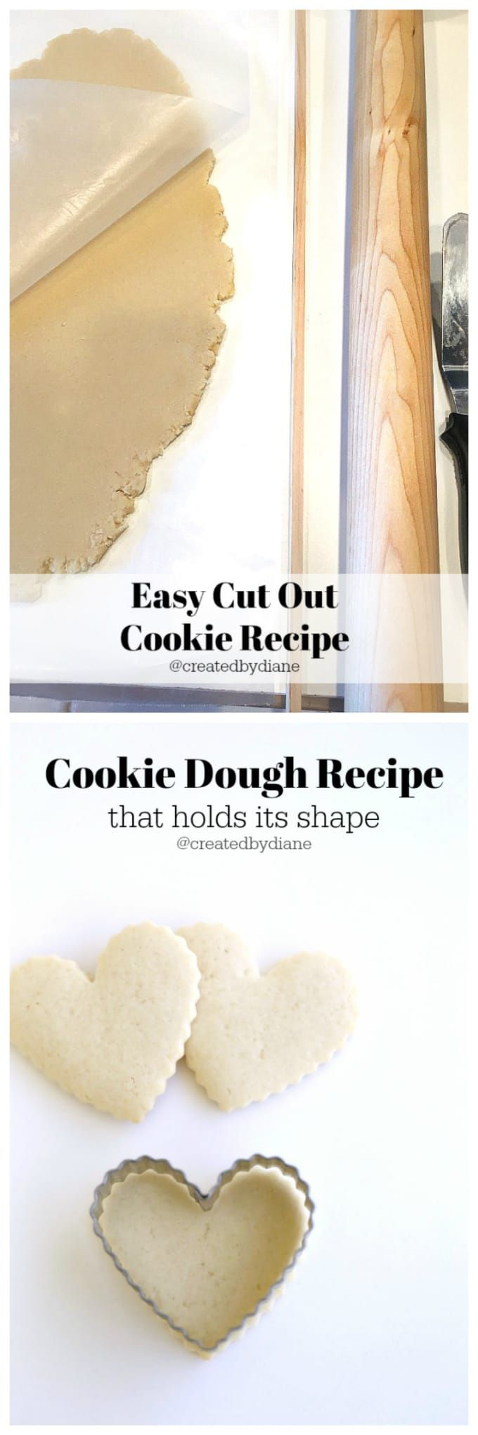 Delicious and easy sugar cookie recipe perfect for all occasions and holidays including Christmas Cookie Baking! @createdbydiane