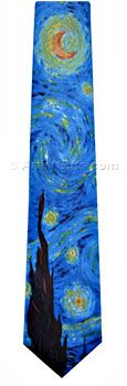 Cool Tie for Van Gogh Fans! $ Free US Shipping, extra long style available, Free U.S. Shipping.
