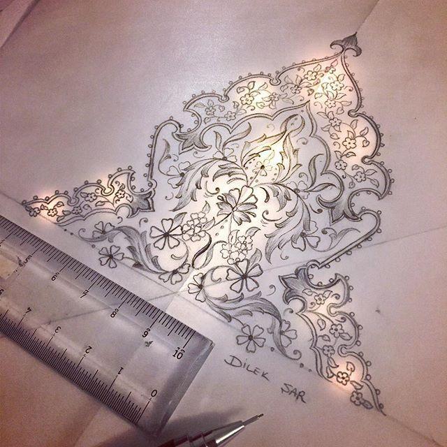 Işılda be parlaaa!! Yakışıyor #tezhip #şemse #tasarım #designer #dilekşar