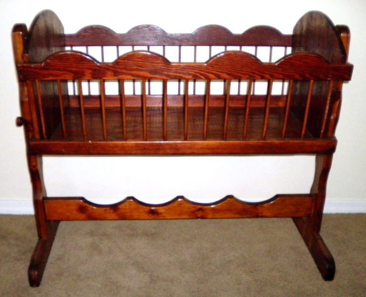 wooden baby cradle - 105 Best Antique Baby Furniture Images On Pinterest Antique