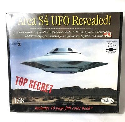 Spacecraft 1194: Vintage Testors Area S4 Ufo Revealed! Model Kit 1:48 Scale Sealed Nip Bob Lazar -> BUY IT NOW ONLY: $88.88 on eBay!