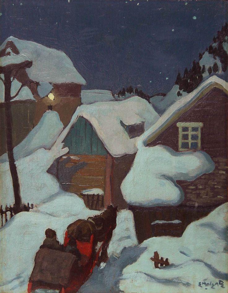 Evening, Baie-Saint-Paul, Quebec - Edwin Holgate (Canadian, 1892-1977) Group of Seven
