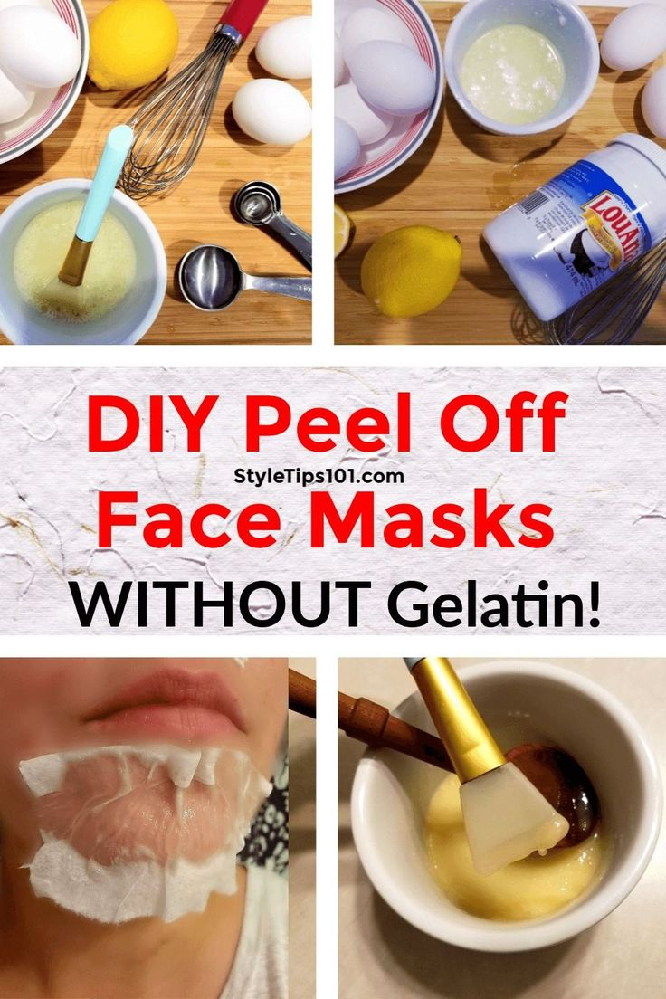We've got 3 different DIY peel off face mask without