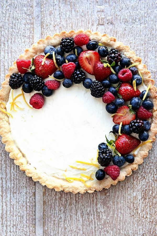 A Fresh Berry Mascarpone Tart is a simple, delicious way to show off all the season's best berries. The perfect dessert for summer!