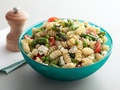 This picture is the wrong picture, but I am pinning my all-time favorite salad..Lebanese fattoush.  I made this for a potluck tonight, and by the time I got to my own salad, it was gone.  Leave the pita croutons on the side for any gluten-free folks.