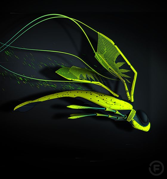 Flyknit Dragonfly - Nike Flyknit Projection Mapping by Found.