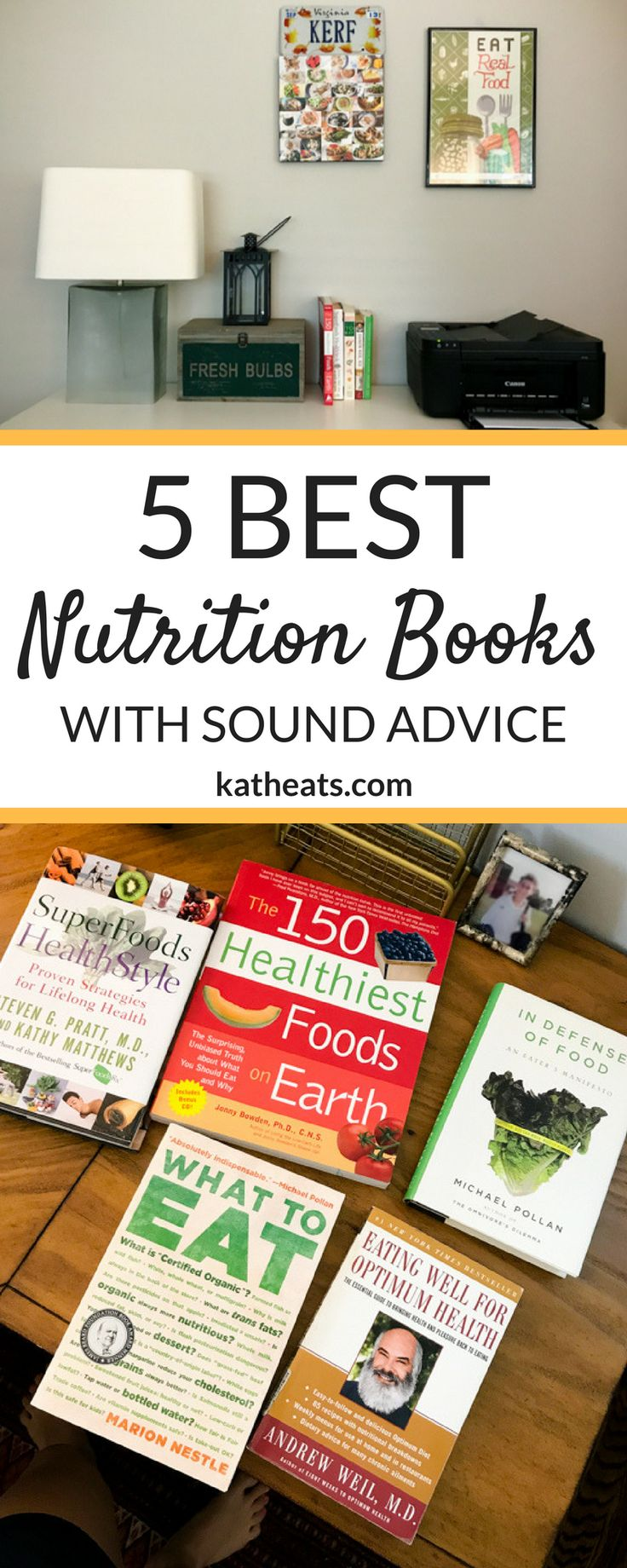There are plenty of books and movies out there that give biased, cherry-picked nutrition advice - and those aren't the ones I agree with as a registered dietitian. Here are my top 5 nutrition books that give sound advice for making healthy lifestyle changes!