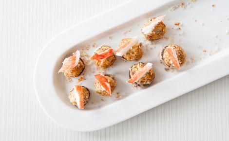 Epicure's Crab-stuffed Mushroom Caps