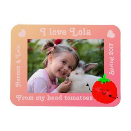 Positive Tomato Pun - From My Head Tomatoes Magnet - home decor design art diy cyo custom