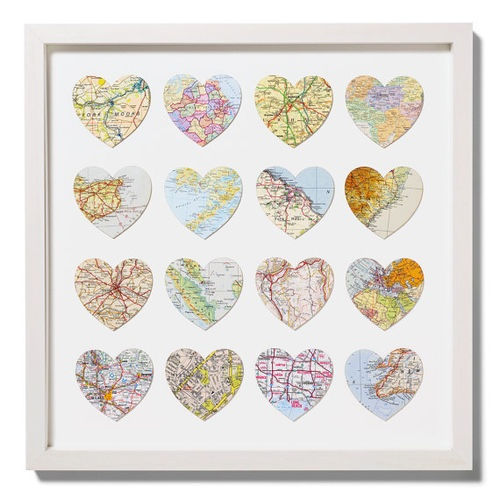 Heart Map Art :)