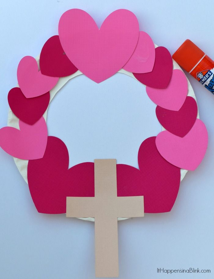 Heart And Cross Valentine S Day Wreath Valentine S Day Kid S