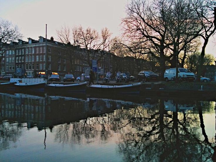 A small harbour place in Amsterdam city