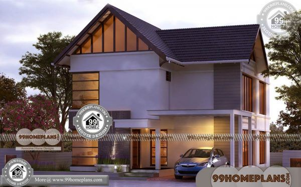 Contemporary Modern Style Home Plans 90 Two Storey House Collection Modern Style Homes Simple House Plans Kerala House Design