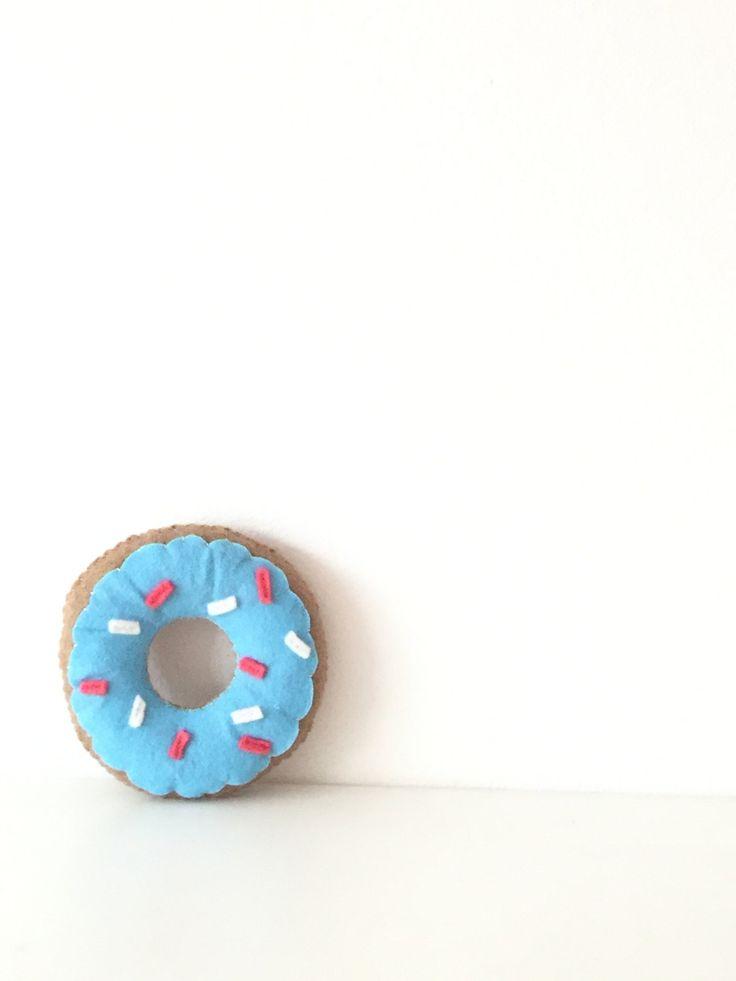 Blue donut cushion, nursery decorative pillow, kidspillow, scandi decor pillow by TadiDesigns on Etsy