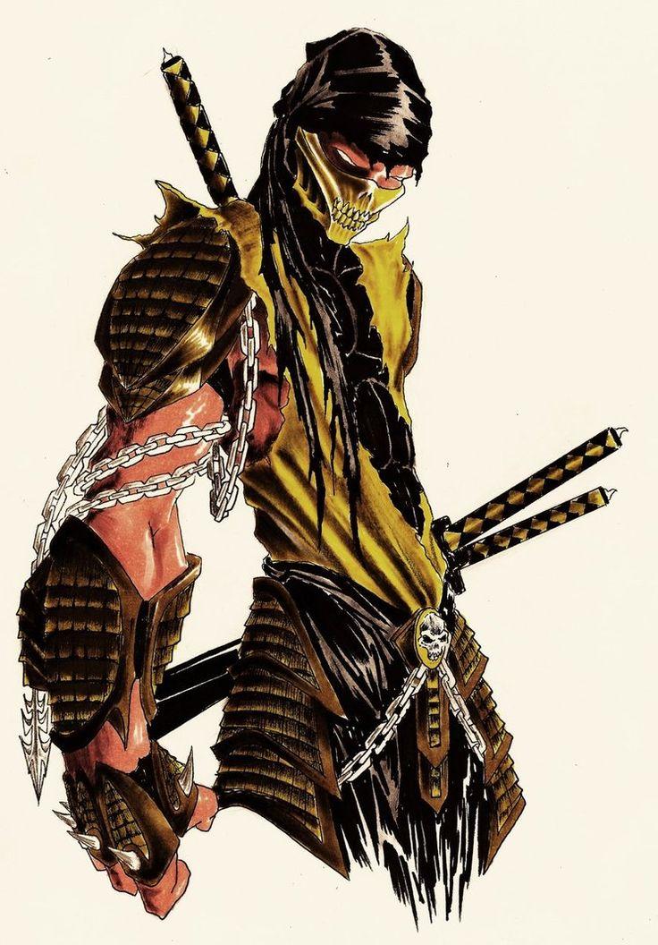 Mortal Kombat Online: Scorpion - MORTAL KOMBAT RP Fan Art