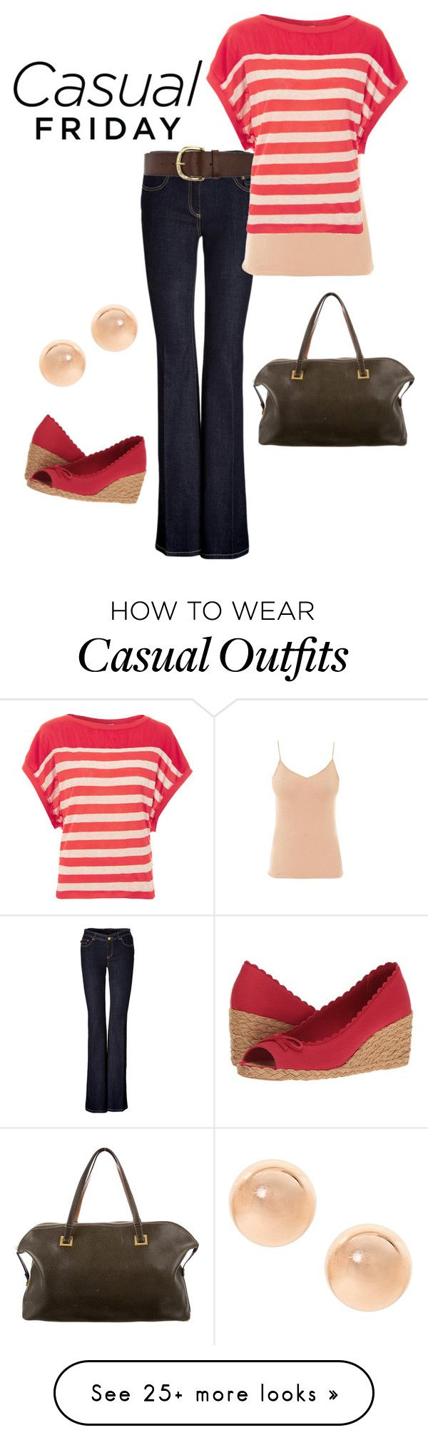 """Casual Friday"" by jennashrmn on Polyvore featuring Rachel Zoe, Warehouse, Hanro, Splendid, Lauren Ralph Lauren and Kate Spade"