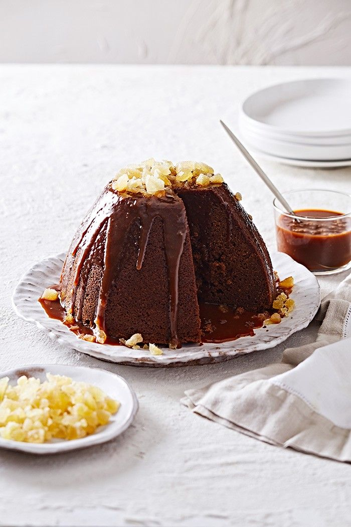 Ginger and Treacle Pudding with Orange Caramel Sauce