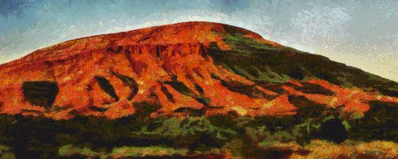 Stretched Canvas Panorama print of Pilbara at Dusk by ArtbyOlafur, $78.00