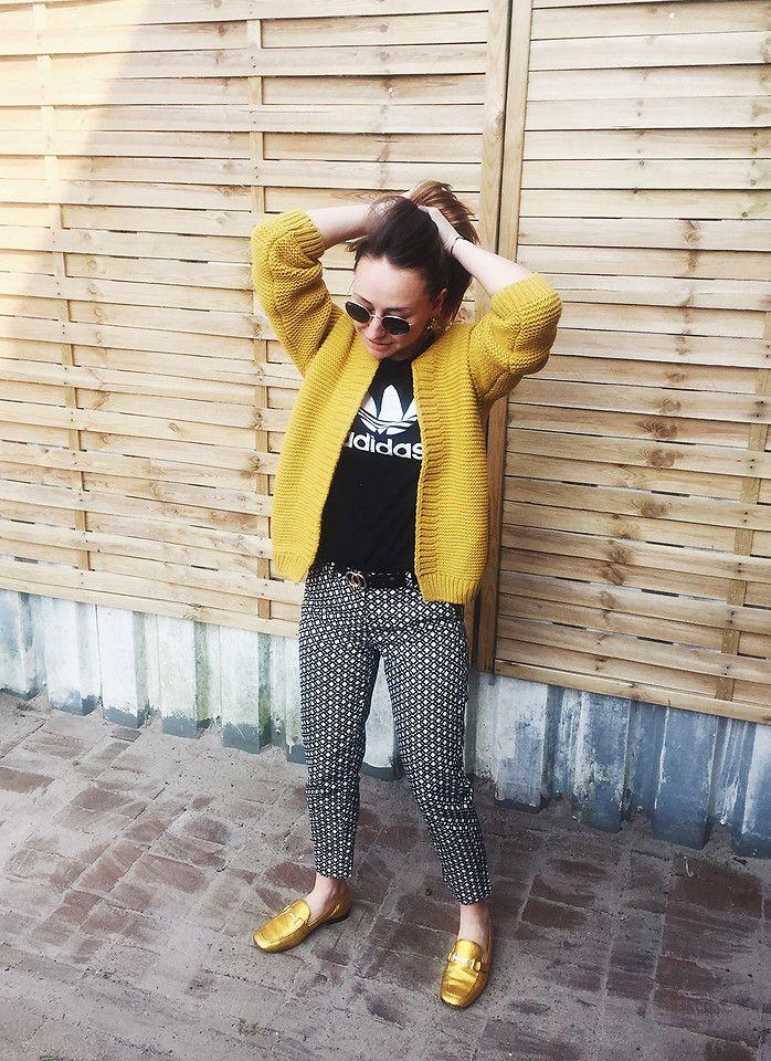 Magna G. - Mustard yellow cardigan outfit